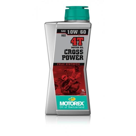 MOTOREX CROSS POWER 4T 10W60 1 LTR.  (JASO MA 2)