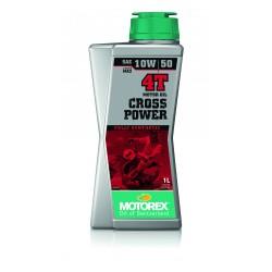 MOTOREX CROSS POWER 4T 10W50 1 LTR.  (JASO MA 2)